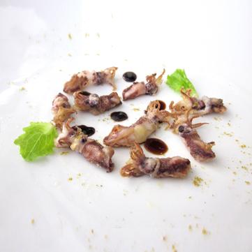 Calamari fritti al curry e aceto balsamico 25 anni