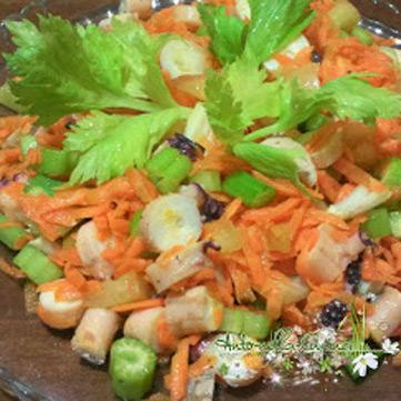 Ricetta per insalata di mare con verdure