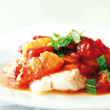 Baccalà in salsa di rabarbaro e arancia in agrodolce