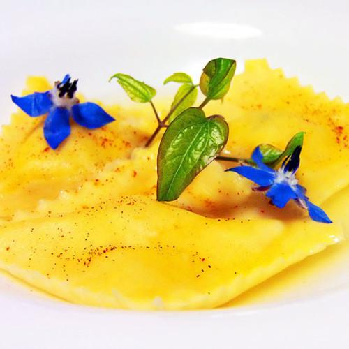 Tortelli di capesante in salsa di dashi