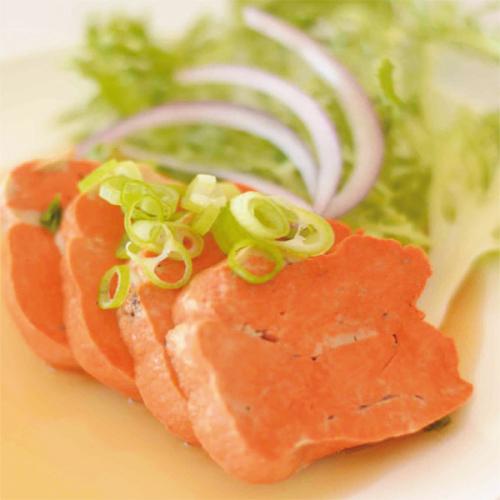 Fegato di rana pescatrice su vinaigrette agrodolce