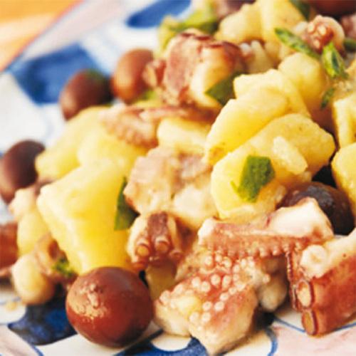 Polpo, patate e borlotti...al profumo di sedano