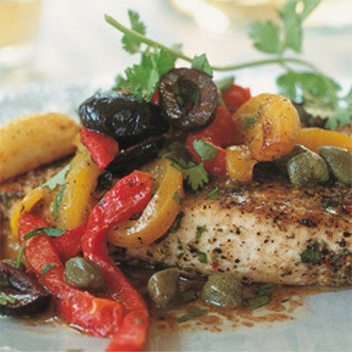 Pesce spada con fantasia di verdure