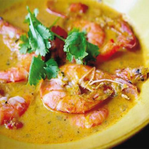 Rossi di Mazara con bisque al curry