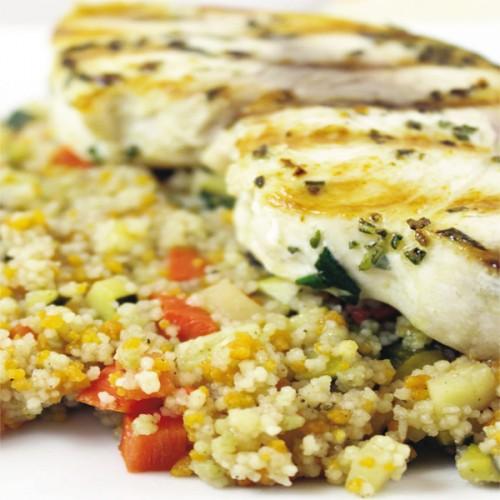 Spada al rosmarino, con cous cous alle verdure