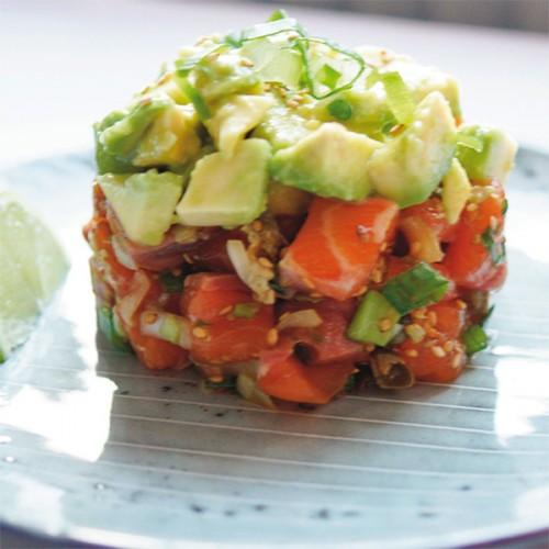 Tartare di salmone fresco, avocado e lime