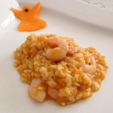 Riso gamberetti e fantasmini di zucca fresco pesce for Pesce chicco di riso