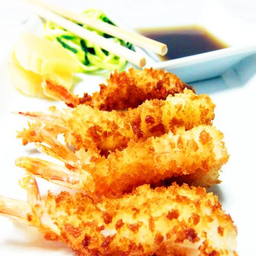 Gamberoni in tempura al profumo di limone