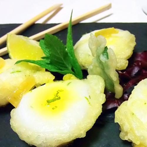Calamaretti in tempura al profumo di menta