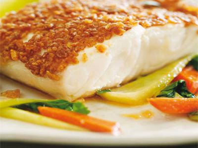 Filetto di branzino in panure di corn flakes fresco pesce for Cucinare branzino 5 kg