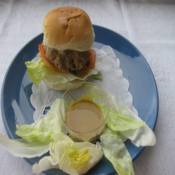 Hamburger di tonno con salsa di senape 003
