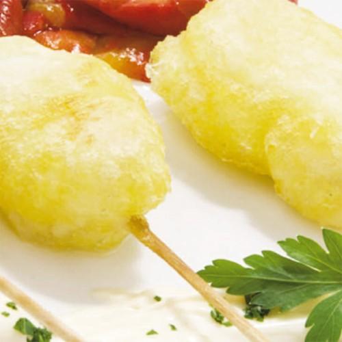 Spiedini di baccalà in tempura al limone