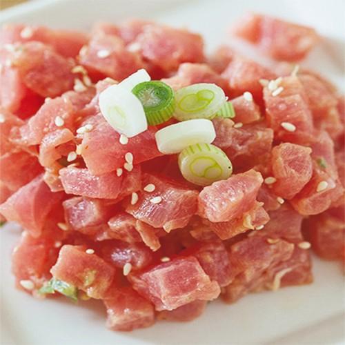Cruditè di tonno con aceto di riso e pepe bianco