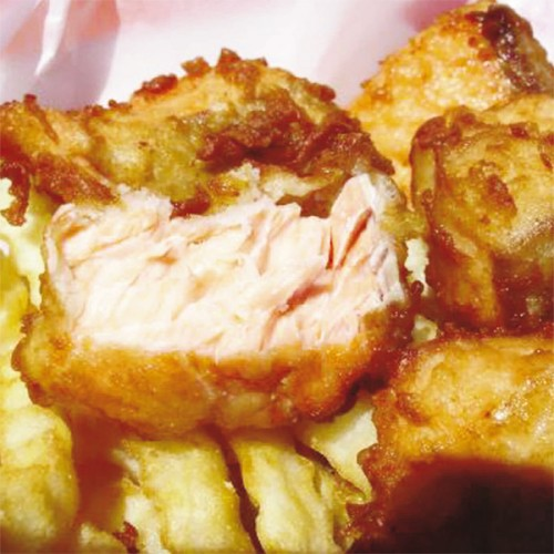 Fish and chips di salmone