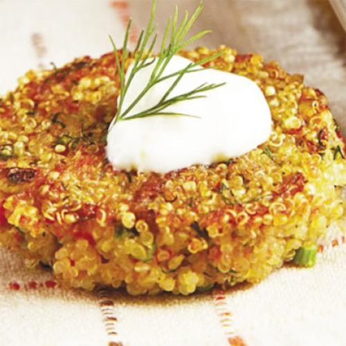 Hamburger di quinoa e salmone