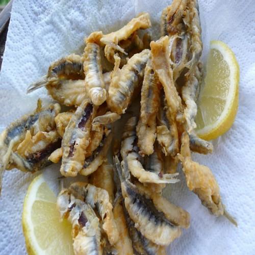 Alici in tempura, al profumo di bergamotto